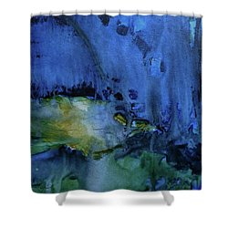 Too Blue Shower Curtain