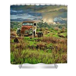 Tornado Truck Shower Curtain