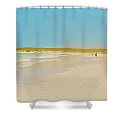 Tortuga Bay Beach At Santa Cruz Island In Galapagos  Shower Curtain by Marek Poplawski