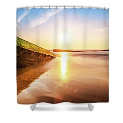 Shower Curtain featuring the photograph Touching The Golden Cloud by Thierry Bouriat