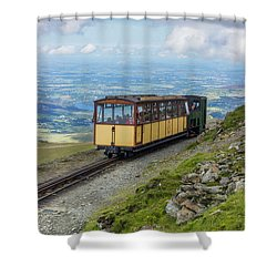 Shower Curtain featuring the photograph Train To Snowdon by Ian Mitchell