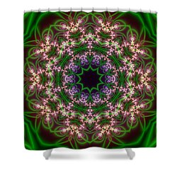 Shower Curtain featuring the digital art Transition Flower 10 Beats by Robert Thalmeier