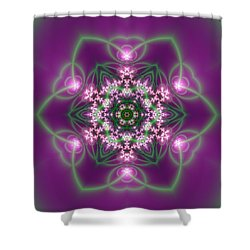 Shower Curtain featuring the digital art Transition Flower 6 Beats 3 by Robert Thalmeier