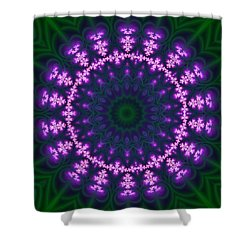 Transition Flower  Shower Curtain