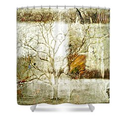 Tree Deconstructed 2 Shower Curtain by Lynda Payton