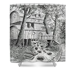 Tree House #5 Shower Curtain by Jim Hubbard