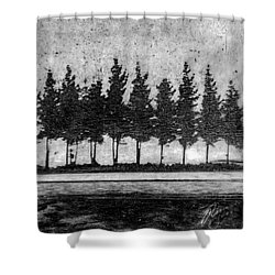 Tree Road Shower Curtain