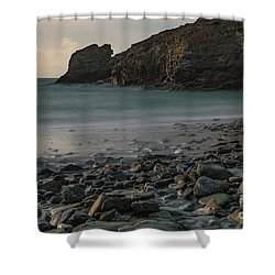 Shower Curtain featuring the photograph Trevellas Cove by Brian Roscorla