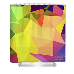 Triangle Abstract Color Shower Curtain