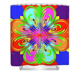 Tribute To Peter Max Shower Curtain