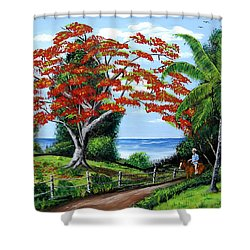 Tropical Landscape Shower Curtain