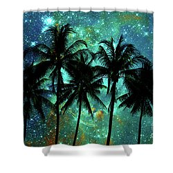 Shower Curtain featuring the photograph Tropical Night by Delphimages Photo Creations