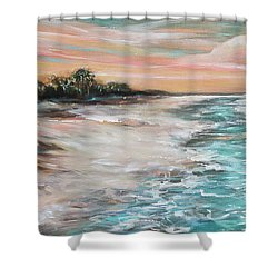 Tropical Shore Shower Curtain