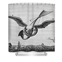 Trouv�s Ornithopter Shower Curtain by Granger