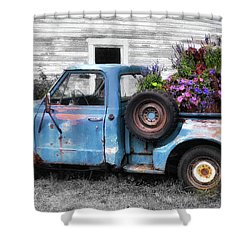 Truckbed Bouquet Shower Curtain