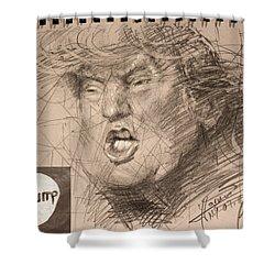 Trump Shower Curtain by Ylli Haruni