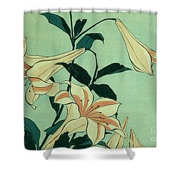 Trumpet Lilies Shower Curtain
