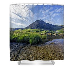 Shower Curtain featuring the photograph Tryfan Mountain by Ian Mitchell