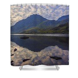 Tryfan Sunrise Shower Curtain