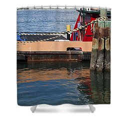 Tug Indian River Shower Curtain by Allan  Hughes