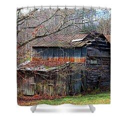 Tumbledown Barn Shower Curtain