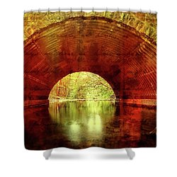 Shower Curtain featuring the photograph Tunnel Vision by Alan Raasch