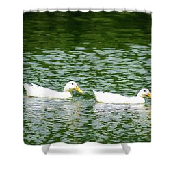 Two Ducks Shower Curtain