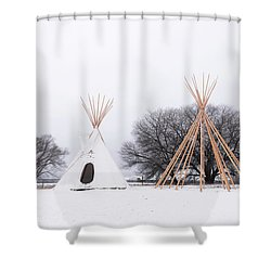 Two Tipis Shower Curtain