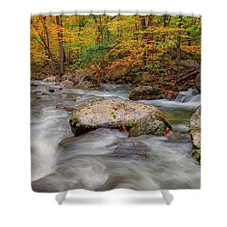 Tye River Shower Curtain by David Cote