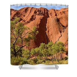 Shower Curtain featuring the photograph Uluru 07 by Werner Padarin