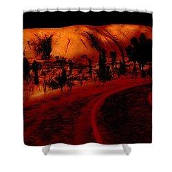 Uluru Sunrise Shower Curtain