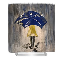 Umbrella Girl Shower Curtain