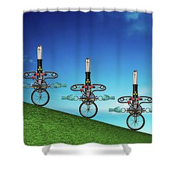 Unanchored  Shower Curtain