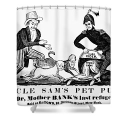 Uncle Sam Cartoon, 1840 Shower Curtain by Granger