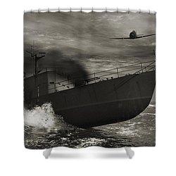 Under Attack  Shower Curtain