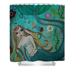 Under The Sea Shower Curtain by Pristine Cartera Turkus