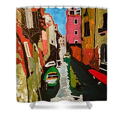 Unfinished Venice Italy  Shower Curtain