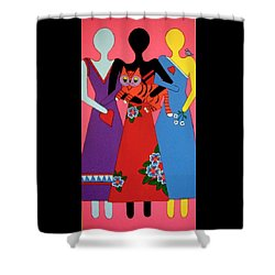 Shower Curtain featuring the painting Unity 3 by Stephanie Moore