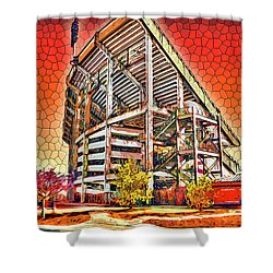 University Of Maryland - Byrd Stadium Shower Curtain by Stephen Younts