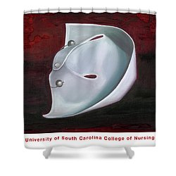 Shower Curtain featuring the painting University Of South Carolina College Of Nursing by Marlyn Boyd