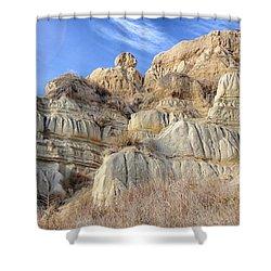 Unstable Cliffs Shower Curtain