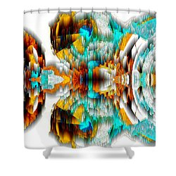 Shower Curtain featuring the digital art Untitled Series 992.042212 -c by Kris Haas
