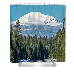 Up To The Mountain Shower Curtain