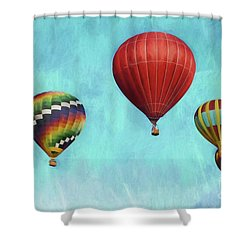Shower Curtain featuring the photograph Up Up And Away 2 by Benanne Stiens