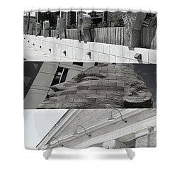 Shower Curtain featuring the photograph Uptown Library by Susan Stone