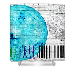 Urban Graffiti - Binary Evolution Shower Curtain