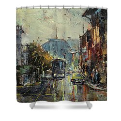 Urban Morning Shower Curtain