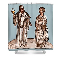 Uroscopy, 15th Century Shower Curtain by Science Source