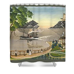 U S Mail Boat Shower Curtain