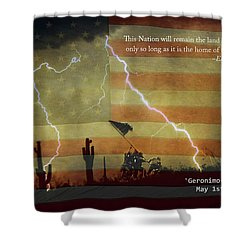 Usa Patriotic Operation Geronimo-e Kia Shower Curtain by James BO  Insogna